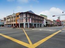 Σκηνή οδών σε Chinatown της Σιγκαπούρης Στοκ Εικόνες