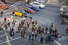 Σκηνή οδών σε Plaza Espana Στοκ Εικόνες