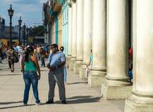 Σκηνή οδών στην Αβάνα, Κούβα στοκ εικόνες