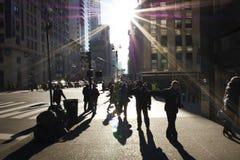Σκηνή οδών του Μανχάταν Στοκ φωτογραφίες με δικαίωμα ελεύθερης χρήσης
