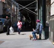 Σκηνή οδών του Μανχάταν, NYC Στοκ φωτογραφία με δικαίωμα ελεύθερης χρήσης