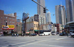 Σκηνή οδών του Σικάγου Στοκ Φωτογραφία
