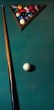 σκηνή παιχνιδιών λεσχών μπιλιάρδου μπιλιάρδου Στοκ φωτογραφία με δικαίωμα ελεύθερης χρήσης