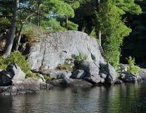 σκηνή ποταμών απότομων βράχων Στοκ Εικόνες