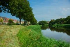 σκηνή ποταμών ελιγμού γραφ& Στοκ φωτογραφίες με δικαίωμα ελεύθερης χρήσης