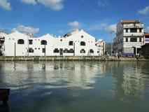 Σκηνή ποταμών Malacca, Μαλαισία Στοκ εικόνες με δικαίωμα ελεύθερης χρήσης