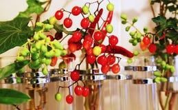 Σκηνή πολλών κόκκινων φρούτων Στοκ εικόνες με δικαίωμα ελεύθερης χρήσης