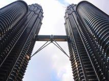 Σκηνή πρωινού δίδυμων πύργων Petronas Στοκ Φωτογραφία
