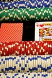 Σκηνή πόκερ Στοκ Φωτογραφίες