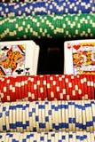 Σκηνή πόκερ Στοκ φωτογραφία με δικαίωμα ελεύθερης χρήσης