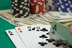 Σκηνή πόκερ Στοκ Εικόνες