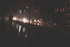 Σκηνή πόλεων νύχτας Στοκ φωτογραφία με δικαίωμα ελεύθερης χρήσης