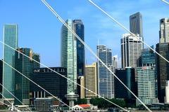Σκηνή πόλεων Σινγκαπούρης στοκ εικόνα