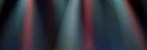 Σκηνή, σκηνικό φως με τα χρωματισμένα επίκεντρα Στοκ Φωτογραφίες