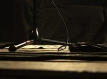 Σκηνή στη συναυλία στοκ εικόνες