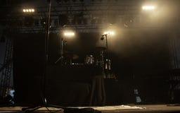 Σκηνή στη συναυλία στοκ φωτογραφίες με δικαίωμα ελεύθερης χρήσης