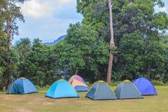 Σκηνή στο campground το πρωί Στοκ Εικόνες