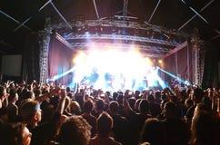 Σκηνή συναυλίας βράχου στοκ φωτογραφίες με δικαίωμα ελεύθερης χρήσης