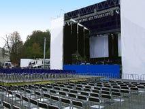 σκηνή συναυλίας Στοκ εικόνα με δικαίωμα ελεύθερης χρήσης