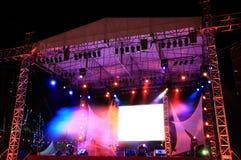 Σκηνή συναυλίας στοκ εικόνα
