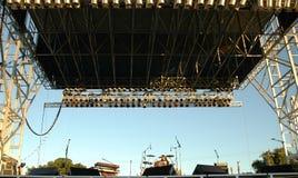 σκηνή συναυλίας Στοκ φωτογραφία με δικαίωμα ελεύθερης χρήσης