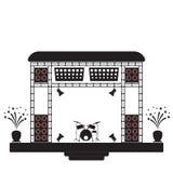 Σκηνή συναυλίας και μουσικός εξοπλισμός ελεύθερη απεικόνιση δικαιώματος