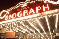 Σκηνή τη νύχτα, θέατρο Biograph, Σικάγο Στοκ Εικόνες