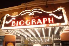Σκηνή τη νύχτα, θέατρο Biograph, Σικάγο Στοκ φωτογραφία με δικαίωμα ελεύθερης χρήσης