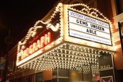 Σκηνή τη νύχτα, θέατρο Biograph, Σικάγο Στοκ Φωτογραφίες