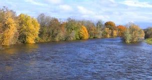 Σκηνή του ποταμού Westfield σε Westfield, Μασαχουσέτη στοκ εικόνα