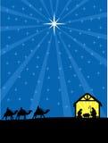 Σκηνή του Christian Nativity Χριστουγέννων Στοκ φωτογραφίες με δικαίωμα ελεύθερης χρήσης