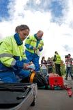 σκηνή τροχαίου ατυχήματος Στοκ εικόνα με δικαίωμα ελεύθερης χρήσης
