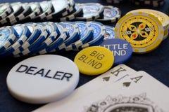 Σκηνή τσιπ πόκερ Στοκ φωτογραφίες με δικαίωμα ελεύθερης χρήσης
