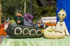 Σκηνή των λαχανικών στην έκθεση σε Uglich, Ρωσία Στοκ εικόνα με δικαίωμα ελεύθερης χρήσης