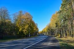 Σκηνή φθινοπώρου Χρόνος φθινοπώρου σε Olgino Στοκ φωτογραφίες με δικαίωμα ελεύθερης χρήσης