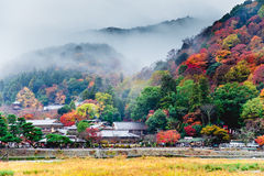 Σκηνή φθινοπώρου Arashiyama στο Κιότο Στοκ εικόνες με δικαίωμα ελεύθερης χρήσης