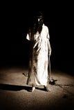 Σκηνή φρίκης - ο δολοφόνος στο δρόμο Στοκ εικόνες με δικαίωμα ελεύθερης χρήσης