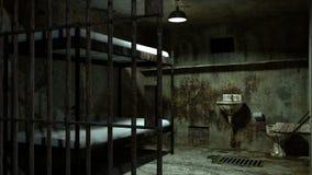 Σκηνή φυλακών με την κίνηση του φωτός απόθεμα βίντεο