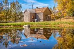 Σκηνή φύσης φθινοπώρου με την όμορφη λίμνη στοκ εικόνες με δικαίωμα ελεύθερης χρήσης
