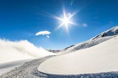 Σκηνή χειμερινών χωρών των θαυμάτων Στοκ Φωτογραφίες