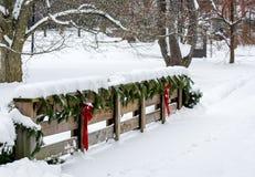 Σκηνή Χριστουγέννων χώρας Στοκ εικόνες με δικαίωμα ελεύθερης χρήσης