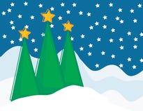 σκηνή Χριστουγέννων Στοκ εικόνες με δικαίωμα ελεύθερης χρήσης
