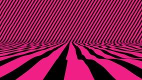 Σκηνή ύφους με το ρόδινο χρώμα που κυματίζουν στο διαγώνιο τοίχο φιλμ μικρού μήκους