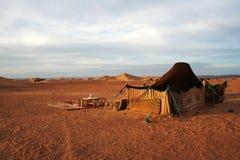 Σκηνή Berber στη μαροκινή έρημο Σαχάρας Στοκ φωτογραφία με δικαίωμα ελεύθερης χρήσης