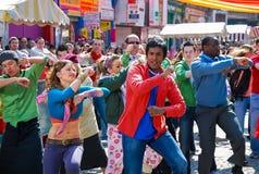 Σκηνή Bollywood στη φυτική αγορά του Δουβλίνου Στοκ φωτογραφία με δικαίωμα ελεύθερης χρήσης