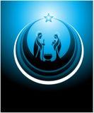 σκηνή nativity εικονιδίων Στοκ Φωτογραφίες