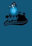 Σκηνή Nativity και οι τρεις σοφοί άνθρωποι απεικόνιση αποθεμάτων
