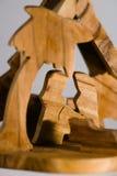 σκηνή nativity ξύλινη Στοκ εικόνα με δικαίωμα ελεύθερης χρήσης