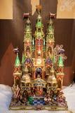 Σκηνή Nativity στο παχνί Χριστουγέννων Στοκ Φωτογραφίες