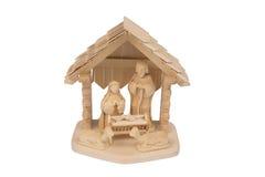 σκηνή nativity του Ιησού Josef Mary παχνιών Χριστουγέννων Χριστού Στοκ Εικόνες